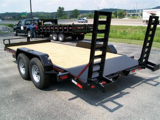2014 Delta 27eb - heavy duty skid steer utility trailer