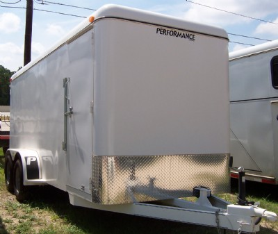 2010 Performance 16' tandem axle enclosed cargo