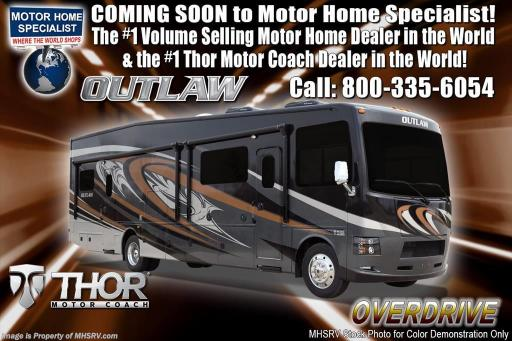 2018 Thor Industries outlaw 37gp toy hauler for sale w/ 2 patio decks, 3 a/cs