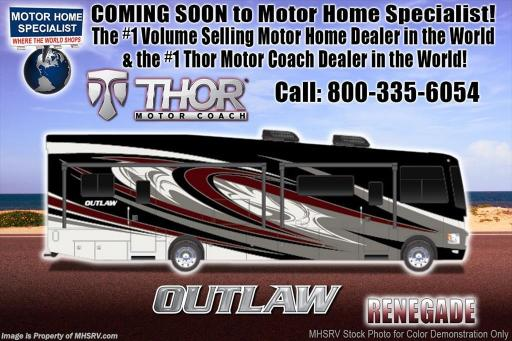 2018 Thor Industries outlaw 37gp toy hauler for sale w/2 patio decks, 3 a/cs