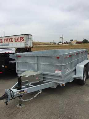 2016 Iron Panther d10ld galvanized dump trailer