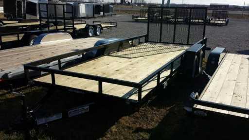 2017 Liberty 7k 82x18 liberty utility trailer