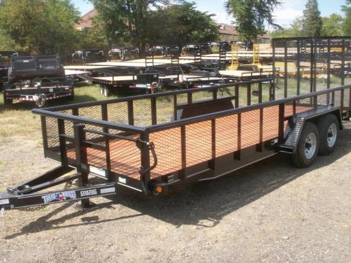 2015 Texas Bragg 20 big pipe landscaping trailer