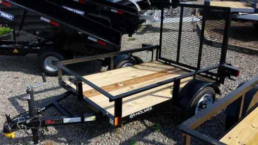 2017 Holmes 4x6 open side rail