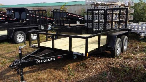 2017 Holmes 6-10x12 commercial open side rail