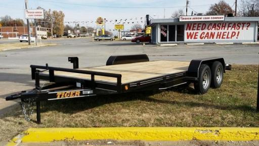 2016 Tiger 83x18 car hauler raised wood floor