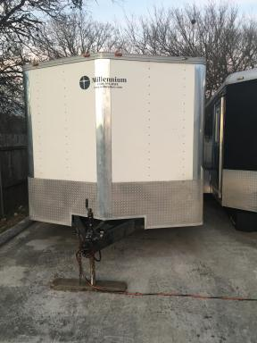 2002 Millennium enclosed car trailer