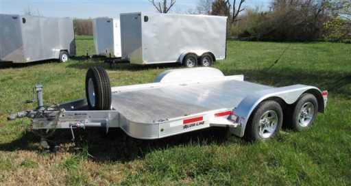 2013 Alum-line 12' aluminum car trailer