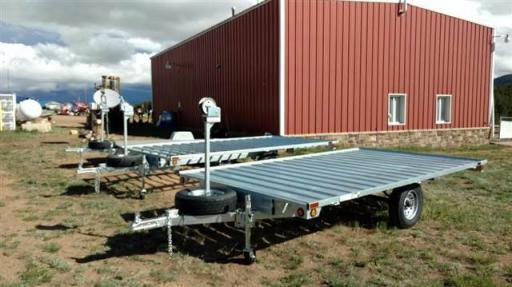 2017 Sportrail 7x10 galvanized slat raft trailer with spare