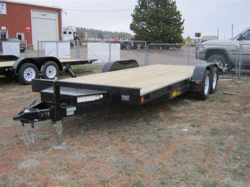 2018 Midsota 18' ta flatbed, pullout ramps, spare (ct8218)