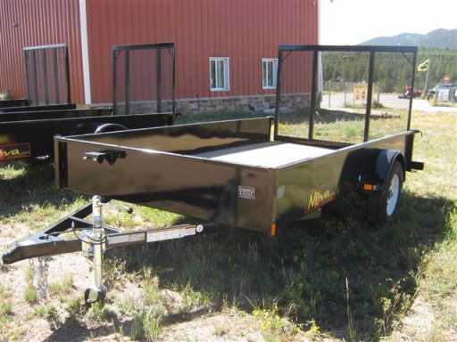 2018 Midsota 12' utility trailer, solid sides, ramp (7712)