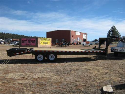 2018 Midsota 29' deck over gn flatbed with ramps sto-24