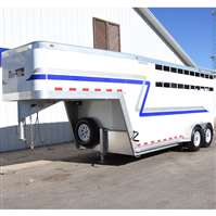 2013 Norte 16' stock combo trailer