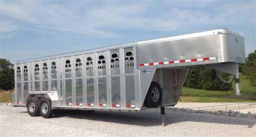 2018 Barrett 24' gn punchside aluminum livestock