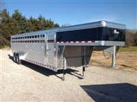 2018 Barrett 7' x 30' smooth slat side aluminum livestock gn