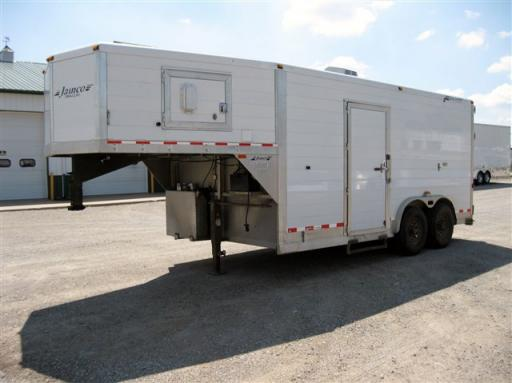 2008 Jamco 8'w x 7't x 16'l - cargo trailer - king pin or gn