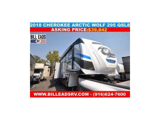 2018 Cherokee arctic wolf 295 qsl8