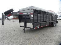 2019 Coose 6'8x24'x6'6 ranch hand tarp top rubber floor stoc