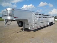 2020 Platinum Coach 32' stock trailer 8 wide with 3-7,000# axles