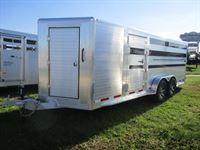 2018 Hillsboro show stock bumper pull 8 pen trailer
