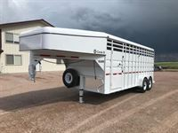2020 Circle D 20 foot stock trailer 6?8? wide