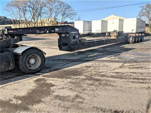 1993 Load King 50ton beam trailer 25' well