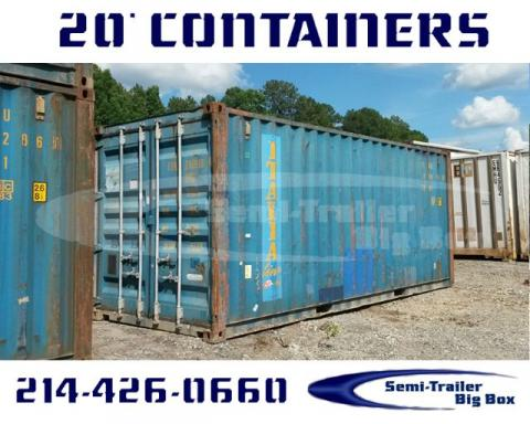 2000 Conex 20' steel shipping containers