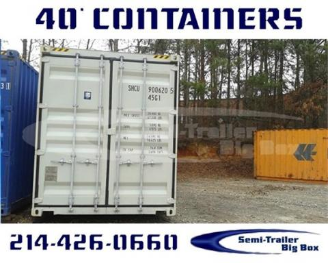 2002 Conex 40' steel wwt shipping containers - ready now!