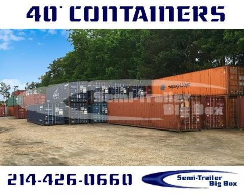 2000 Conex 40' high cube shipping containers