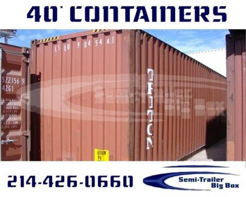 2002 Conex 40' steel shipping containers-wwt storage
