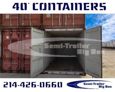2002 Conex 40' high cube steel containers-wwt storage