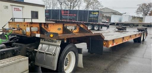 2008 Rogers 35 ton fixed neck lowboy