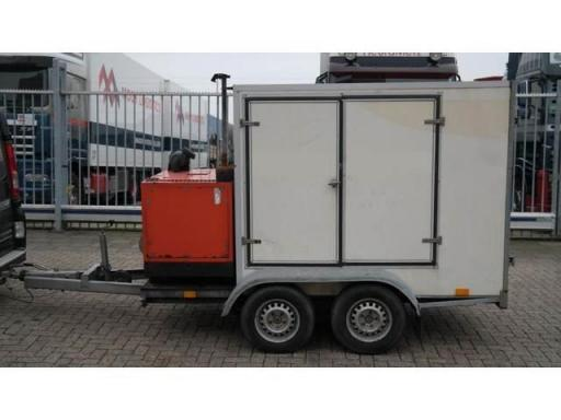 1997 Atlas 2 axle trailer with high pressure atlas copco unit