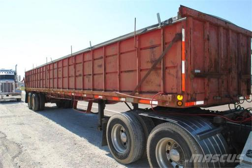 1978 Daco daco 42 ft flat bottom grain trailer